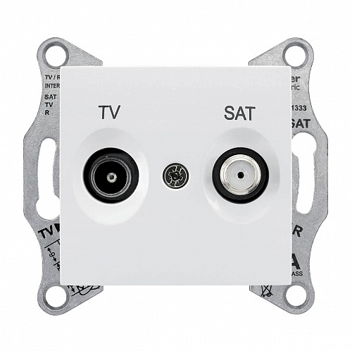 Розетка TV/SAT оконечная Schneider Electric Sedna 1dB SDN3401621